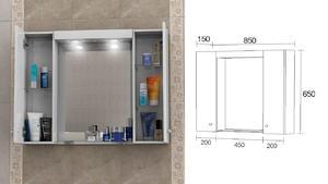 Горен шкаф за баня Вегас